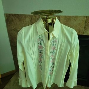Vintage Napa Valley floral embroidered blouse